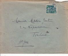 Lettre  Dont Le Timbre A été Oblitéré Au Stylo  Par Le Facteur Avec Son Nom Au Dessus ?( BARTHET Jean) - Marcofilia (sobres)