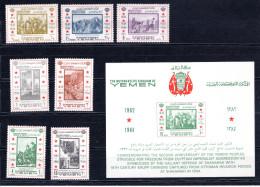8480 Jemen Nordjemen Yemen Mi 240-46, Block 33 Mnh - Yemen