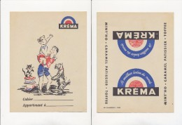Publicité - Protege-Cahiers - KREMA - Buvards, Protège-cahiers Illustrés