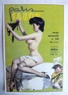 CP PARIS TABOU Revue N° 30 - PIN UP NUE - Arts