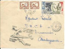 Indochine Viet Nam 1950 Liaison Indochine France Madagascar - Used Stamps