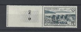 TUNISIE . YT  330  Neuf **  Barrage Sur L'oued Mellegue  1949 - Tunisie (1888-1955)