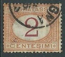 1870-74 REGNO USATO SEGNATASSE 2 CENT - U32-5 - Segnatasse