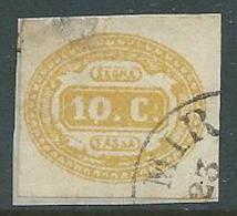 1863 REGNO USATO SEGNATASSE 10 CENT - U32-8 - Segnatasse