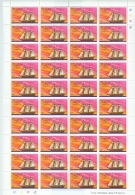 St Lucia Ship First United States War Vessel The Hanna The Prince Of Orange Full Sheet Of 40 Folded MNH A04s - St.Lucia (1979-...)