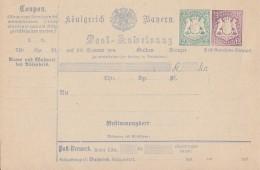 Bayern Ganzsache Postanweisung Minr.A10 Postfrisch - Bayern