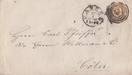 Thurn & Taxis GS-Umschlag 3 Gr. Cassel 27.4.1864 Gel. Nach Cöln Mit Bpst. Giessen-Deutz - Thurn Und Taxis