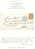 Paris - Bureau De Quartier F. Lettre Locale - 1849-1876: Période Classique