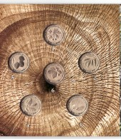 Armenia 2014, Wild Trees, Commemorative 200 Dram Coins, Booklet Cornet UNC - Armenia