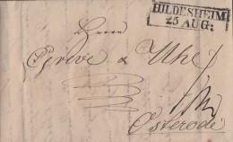 Brief R2 Hildesheim 25.8.1831 Gel. Nach Osterode Mit Inhalt - Deutschland