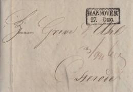 Brief R2 Hannover 27.12.1831 Gel. Nach Osterode Mit Inhalt - Deutschland