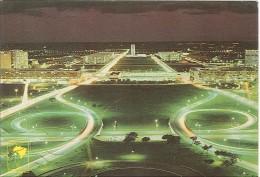CPM Brésil - Brasilia - Vista Nocturna - Brasilia
