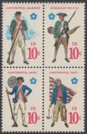 !a! USA Sc# 1565-1568 MNH BLOCK (a02) - Military Uniforms - Etats-Unis