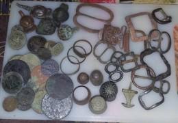 Lot De Monnaies Et Objets - Archeologie
