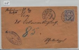 Ziffermuster/chiffre 64A 15c - NN-Brief Von Goldingen SG Nach Wald ZH (Gemeinderathsweibel) - Lettres & Documents