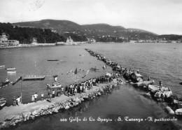 CARTOLINA DI   LA SPEZIA GOLFO S. TERENZO IL PORTICCIOLO ANNI 50 VIAGGIATA 1963 - La Spezia