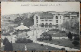 1198 CPA 64 BIARRITZ LE JARDIN PUBLIC ET LA GAE DU MIDI 1910 - Biarritz