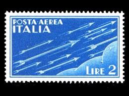 ITALIA REGNO 1930 1932 Posta Aerea Soggetti Allegorici Lire 2 Integro MNH ** - 1900-44 Victor Emmanuel III.