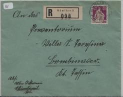 Helvetia Mit Schwert/Helvétie Avec épée 176z R-Brief Von Mümliswil Nach Banco (TI) - Suisse