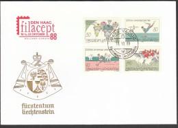 Liechtenstein Vaduz 1988 / Olympic Games Seoul 1988 / Cycling, Gymnastics, Athletics, Equestrian - Summer 1988: Seoul