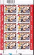 Belgium**RED CROSS-EMERGENCY SERVICES-SHEET 10vals-2004-VOLUNTEERS-MNH-CROIX ROUGE-CRUZ ROJA-Rode Kruis-Rotes Kreuz - Belgium