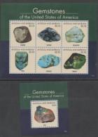 ANTIGUA ,2016, MNH,GEMS OF AMERICA, DIAMONDS, OPAL, EMERALDS, SAPPHIRES,   SHEETLET + S/SHEET - Géologie
