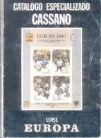 CATALOGO ESPECIALIZADO CASSANO TEMA EUROPA AÑO 1981 400 PAGINAS USADO - Topics