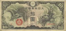 Japan -10 Yen 1940 VF - Kirghizistan