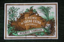 """ETIQUETTE """" CREME DE CACAO  """" - PUERTO CABELLO - Labels"""