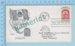 USA FDC PPJ - Cachet :150 Th Anniversary Mexican Independence  Cover Los Angeles 1960 Dc On A USA 4¢  -2 Scans - Histoire
