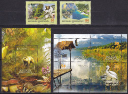 Macedonia 2016 Europa CEPT, Think GREN, Fox, Eagle, Partridge, Bear, Fauna, Set + Block + Booklet MNH - 2016