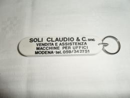 ANCIEN PORTE-CLE / PUB    SOLI CLAUDIO ... / MODENA / CANIF - Porte-clefs