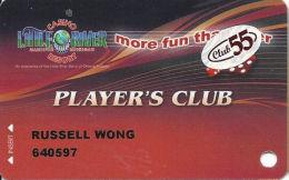 Little River Casino Manistee, MI - Slot Card - Club 55 Sticker - Casino Cards