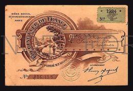 Touring Club De France - 1924 - Carte De Membre MEMBERSHIP CARD - Unclassified