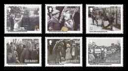 Guernsey 2010 Mih. 1313/18 World War II. Guernsey Evacuees MNH ** - Guernesey