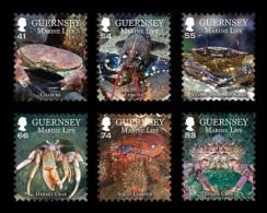 Guernsey 2014 Mih. 1475/80 Fauna. Marine Life. Crustaceans MNH ** - Guernsey