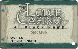 Lodge Casino Black Hawk, CO - 5th Issue Slot Card - 64mm Wide 1st Line Of Text On Reverse - Casino Cards