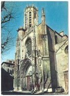 13 AIX-EN-PROVENCE Cathédrale Saint-Sauveur, Façade, Animée, Voiture Ancienne - Aix En Provence