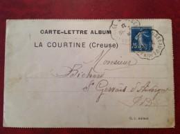 Carte Lettre Album LA COURTINE Ambulant BUSSEAU D'AHUN à USSEL - Railway Post