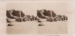 Stereofoto (photo Stéréo) 131 Ägypten -Tempelreste- - Stereoscoop