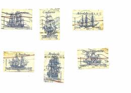 Voiliers Célèbres 4249 à 4254 Série Oblitérée Année 2008 - Francia