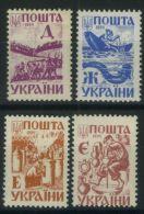 UKRAINE ( POSTE ) : Y&T N°  208/211  TIMBRES  NEUFS  SANS  TRACE  DE  CHARNIERE , A  VOIR .