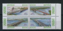 UKRAINE ( POSTE ) : Y&T N°  371/374  TIMBRES  NEUFS  SANS  TRACE  DE  CHARNIERE , A  VOIR .