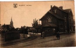 1 PC Rumst Rumpst Stoomtram Tram à Vapeur De Statie Station 1922 - Rumst