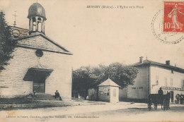 69 // MESSIMY   L'église Et La Place   / Cachet Indice III Au Verso - France