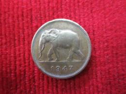 Congo Belge  2 Fr 1947 - Monnaies