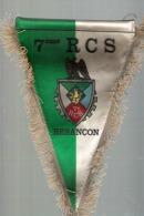 FANION 7 Eme RCS  BESANCON - Ecussons Tissu