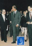 Carte-Maximum ESPAGNE N°Yvert 2259 / Juan Carlos Et Jacques Stibbe, Président De La FIP - Tarjetas Máxima