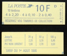 CARNET 1501 Fermé 2179a Et 2376b Cote 12€ TB - Usage Courant