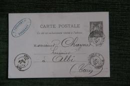 ENTIER POSTAL - 10 Centimes Type SAGE, De BORDEAUX à ALBI Le 22 Novembre 1884 - Enteros Postales